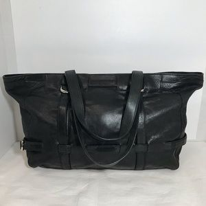 DKNY Black Leather Large Tote Shoulder Bag Purse